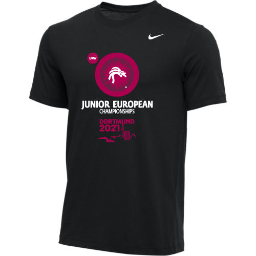 Nike Men's UWW Dortmund Junior European Championships Tee - Black