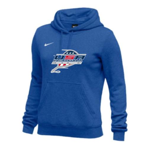 Nike Women's USA Racquetball Club Fleece Pullover Hoodie - Royal
