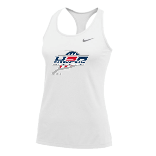 Nike Women's USA Racquetball Balance Tank - White