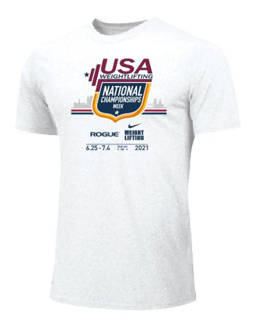Nike Men's USA Weightlifting National Championships Tee 2021 - White