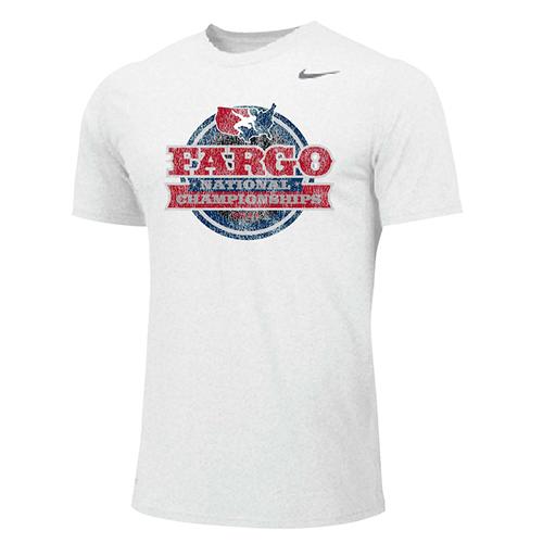 Nike Men's USA Wrestling Championships Fargo 2021 Tee - White/Red