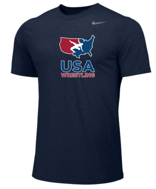 Nike Men's USA Wrestling Legend - College Navy/Cool Grey