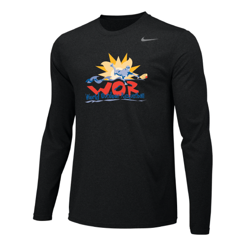 Nike Men's USA Racquetball World Outdoor L/S Dri-Fit Cotton Tee - Black