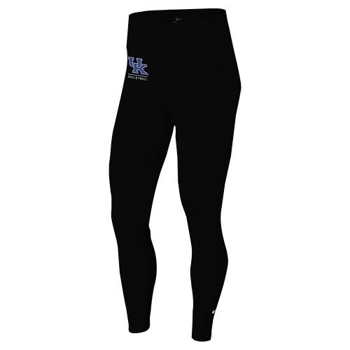 Nike Women's University of Kentucky One Tight - Black/Light Blue/White