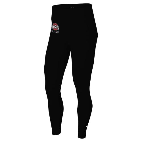 Nike Women's Ohio State University One Tight - Black/Red