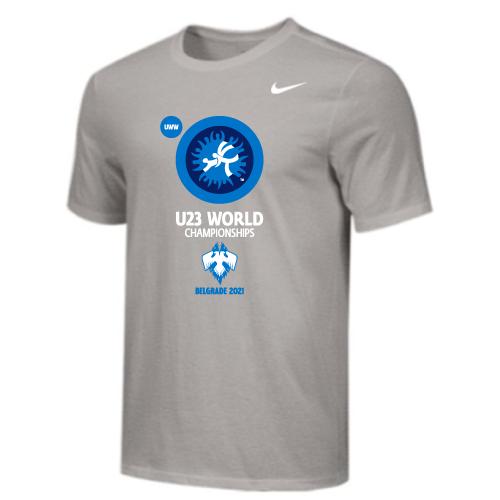 Nike Men's UWW U23 2021 World Championships Tee - Grey