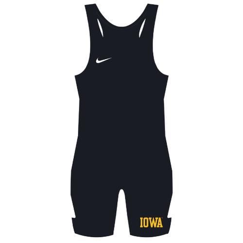 Nike University of Iowa Grappler Elite Wrestling Singlet - Black/Gold