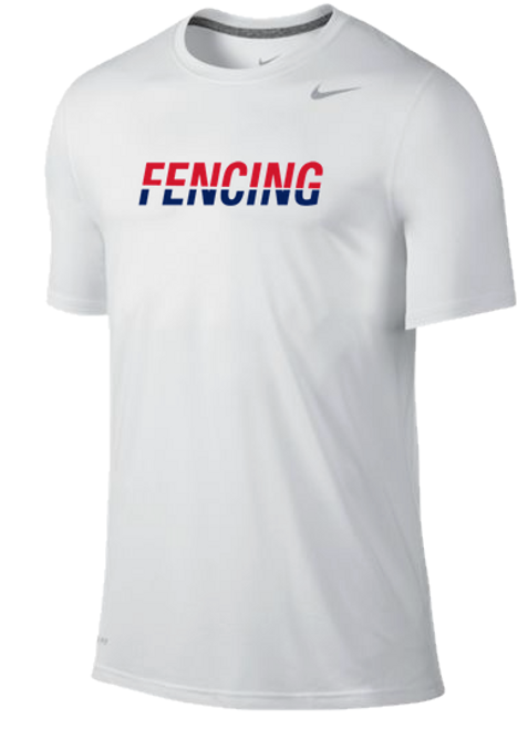 Nike Fencing Dri Fit Cotton Tee - Split Color