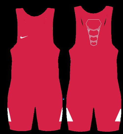 Nike Youth Grappler Elite Wrestling Singlet - Scarlet / White