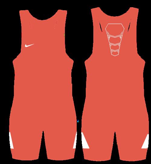 Nike Youth Grappler Elite Wrestling Singlet - Orange / White
