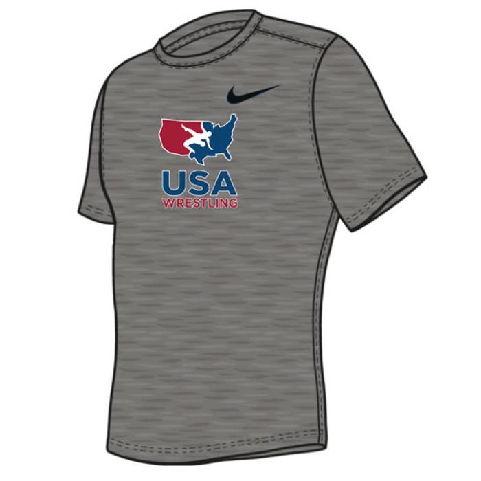 3bc877924d61 Nike Youth USAWR Team Legend Crew Training Tee - Grey