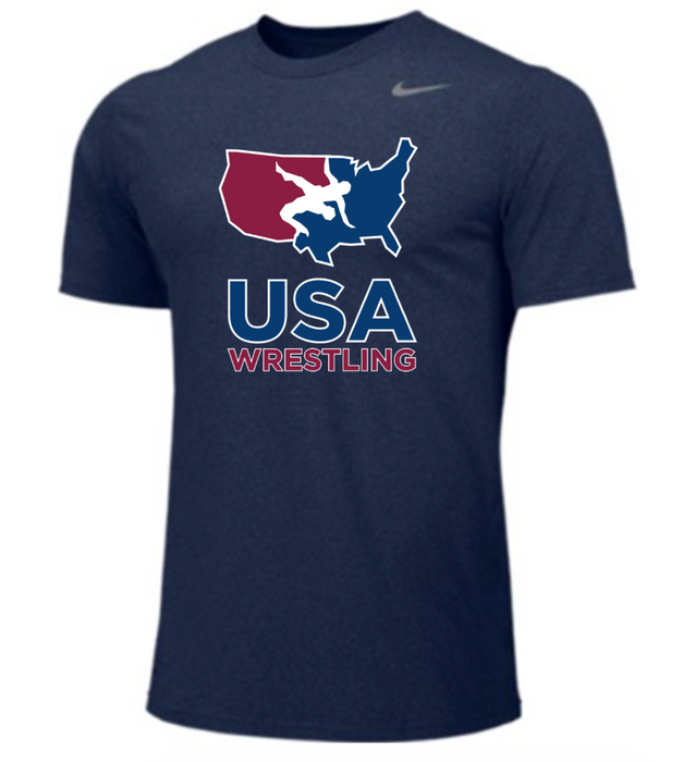 Nike Men's USAWR Team Legend SS Crew - Navy/Red/White/Navy