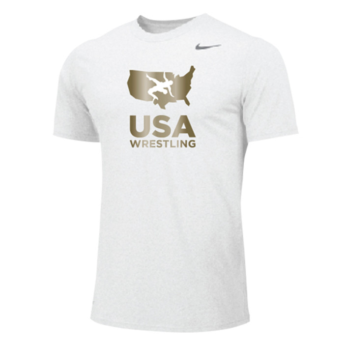 4dd29050e Nike Men's USAWR Dri-Fit Cotton Tee - White/Metallic Gold