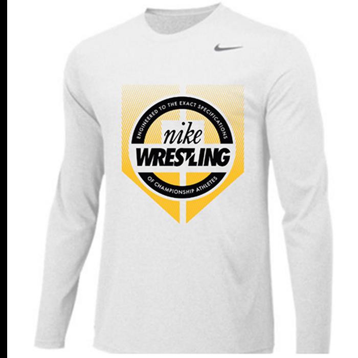 Nike Wrestling Engineered Legend Long Sleeve Crew - Black/Gold