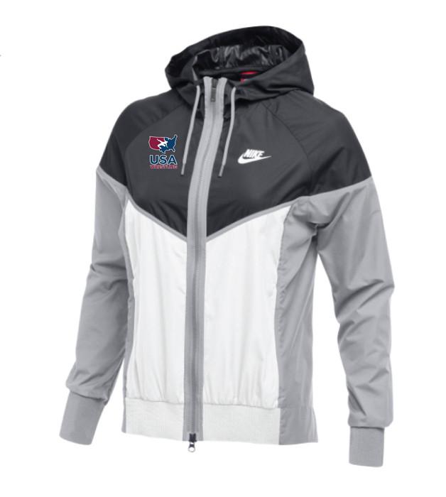Nike Women's USAWR Windrunner Jacket - Anthracite/White
