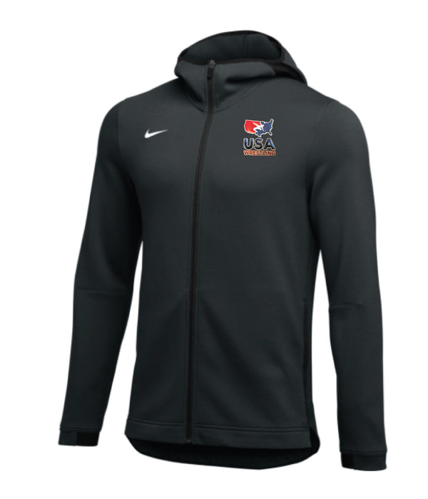 Nike Men's USAWR Dry Showtime Hoodie Full-Zip - Black/White
