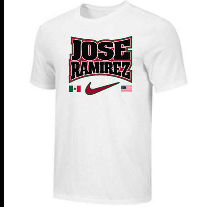Nike Men's Boxing Jose Ramirez Flags Cotton Tee - White/Black