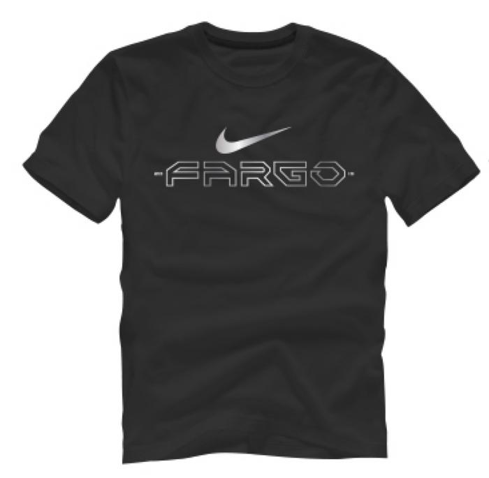 Nike Men's Wrestling Fargo Stars Cotton Tee - Black