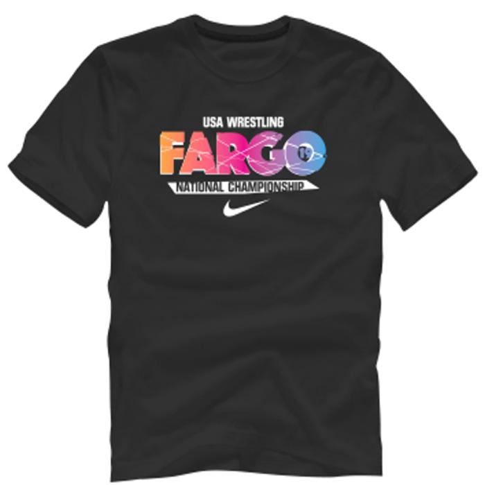 Nike Men's Wrestling Fargo Shatter Cotton Tee - Black