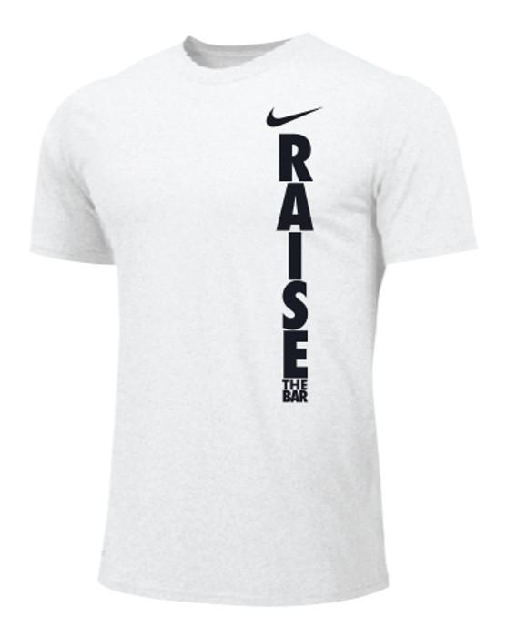 Nike Men's Weightlifting Raise The Bar Tee - White/Black