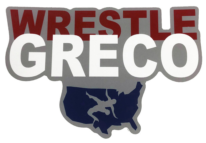 USAWR Greco 6  Inch Vinyl Sticker - Red/White/Blue