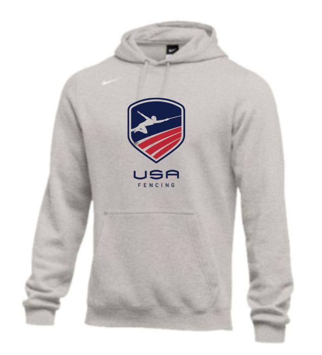 Nike Men's USAF Club Fleece Hoodie - Grey