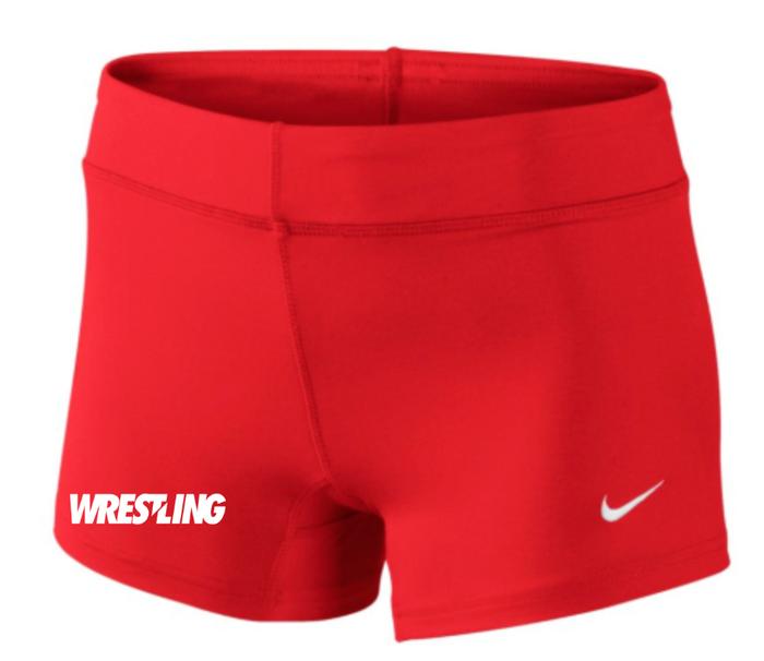 Nike Women's Wrestling Performance Game Short - Scarlet/White
