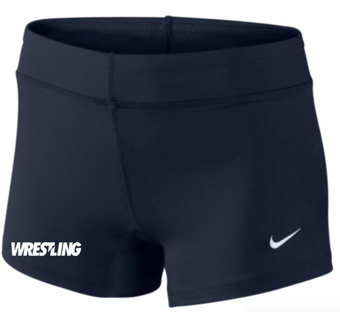 Nike Women's Wrestling Performance Game Short - Navy/White