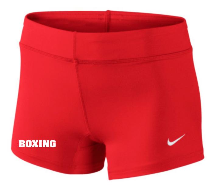 Nike Women's Boxing Performance Game Short - Scarlet/White