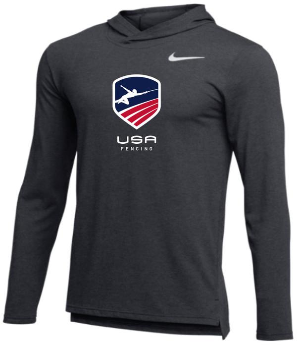 website for discount wholesale online details for Nike Men's USAF Legend Hoodie - Navy/Red/White