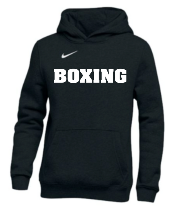 Nike Youth Boxing Pullover Club Fleece Hoodie - Black/White