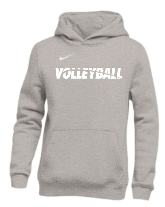Nike Youth Volleyball Pullover Club Fleece Hoodie - Grey/White