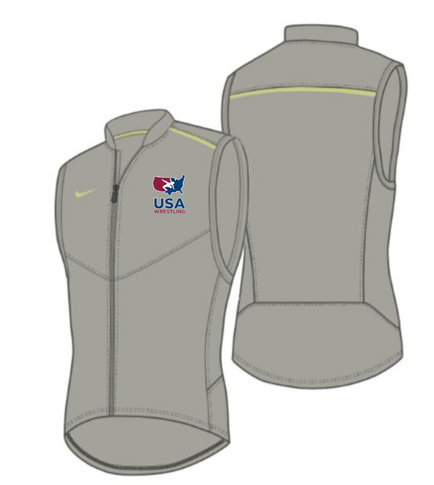 Nike Men's USAWR Performance Vest - Pewter