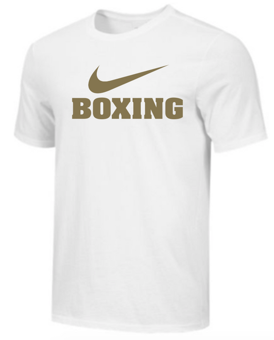 Nike Men's Boxing Tee - White/Gold