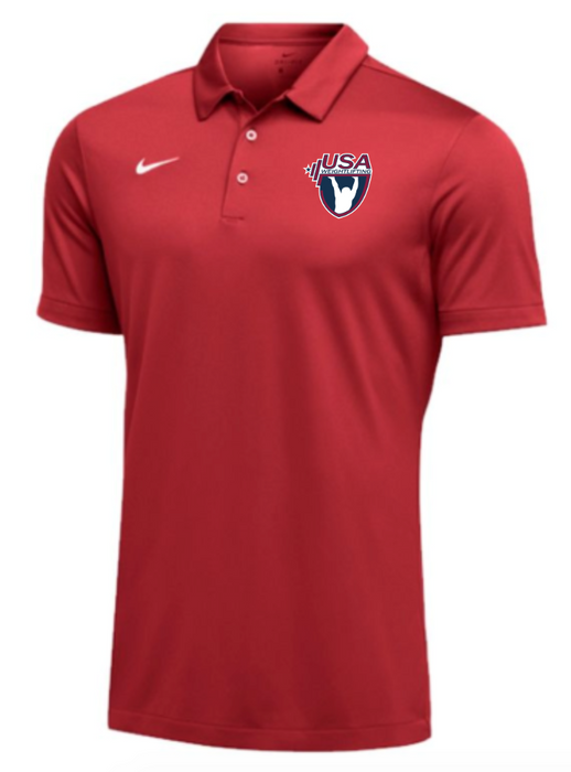 Nike Men's USAW SS Polo - Scarlet