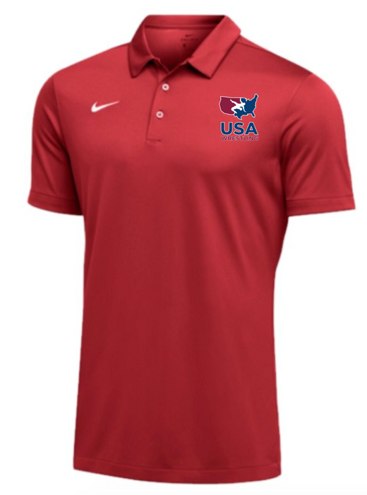 Nike Men's USAWR SS Polo - Scarlet