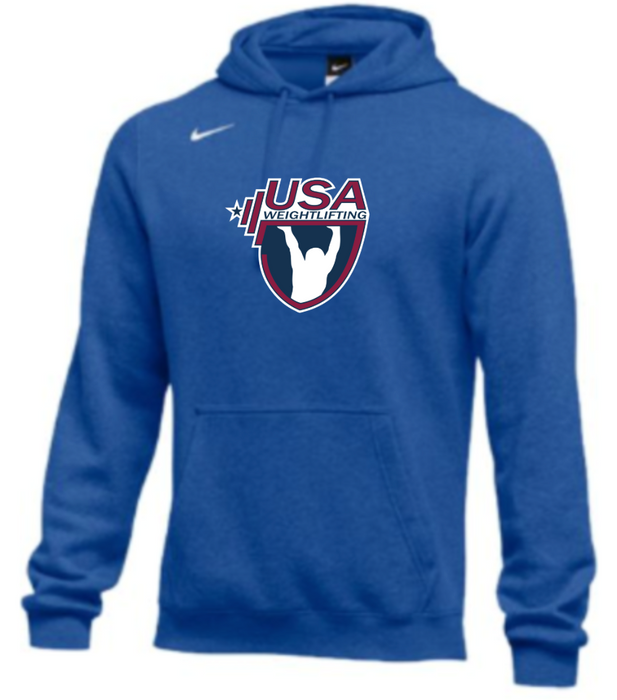 Nike Men's USA Weightlifting Club Fleece Pullover Hoodie - Royal