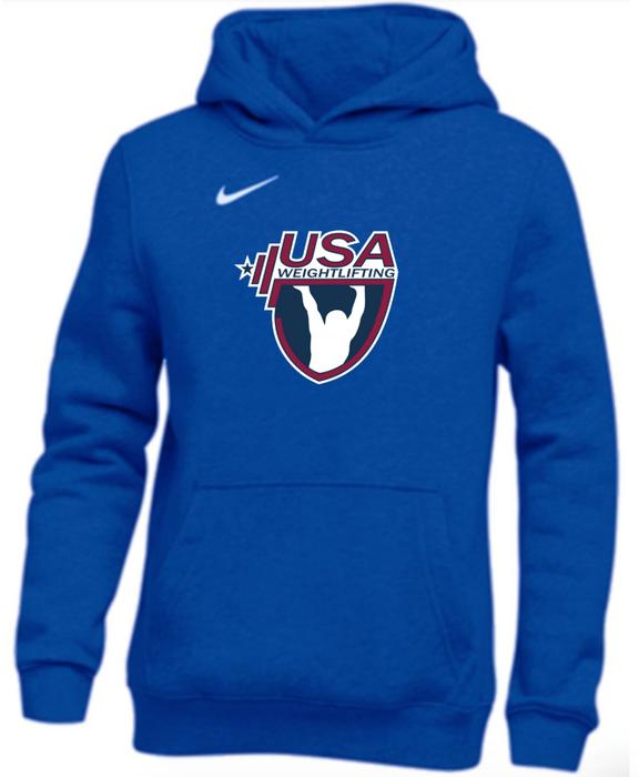 Nike Youth USAW Club Fleece Pullover Hoodie - Royal