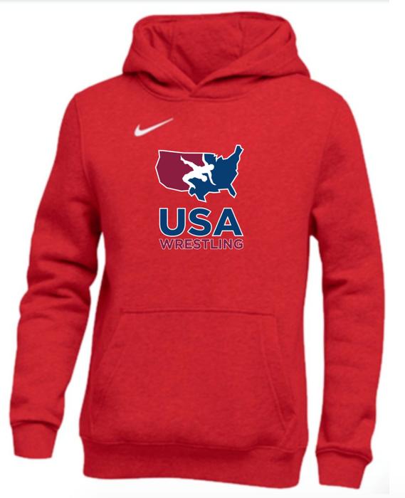 Nike Youth USAWR Club Fleece Pullover Hoodie - Scarlet