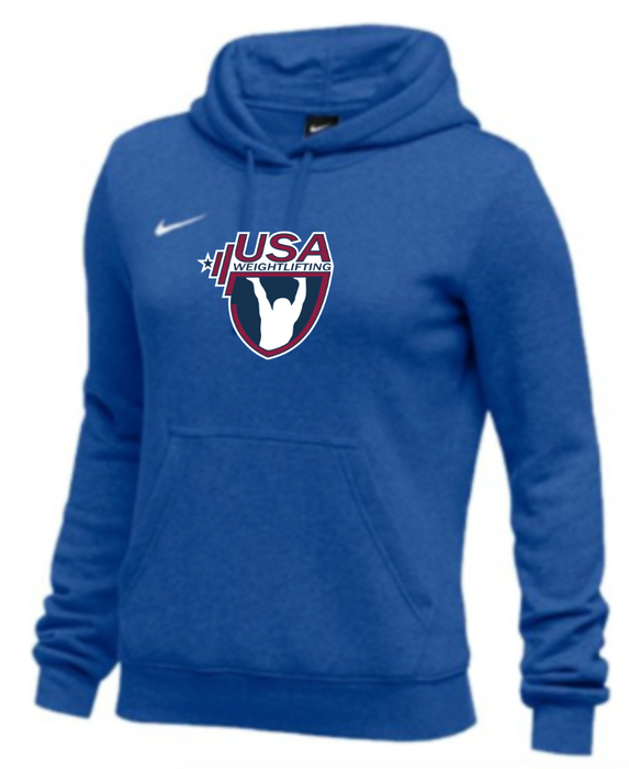 Nike Women's USAW Club Fleece Pullover Hoodie - Royal
