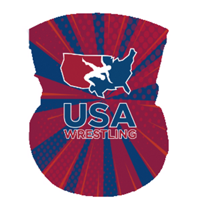 USAWR Neck Gaiter - Red/White/Blue