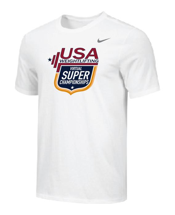 Nike Men's USAW Virtual Super Champs Legend SS Crew - White
