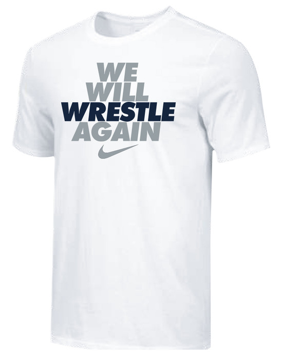 Nike Youth We Will Wrestle Again Tee - White/Grey/Navy