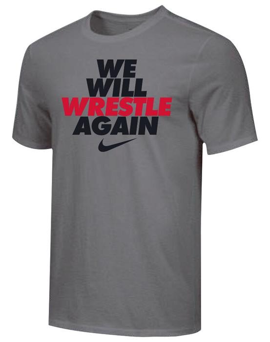 Nike Youth We Will Wrestle Again Tee - Dark Grey/Black