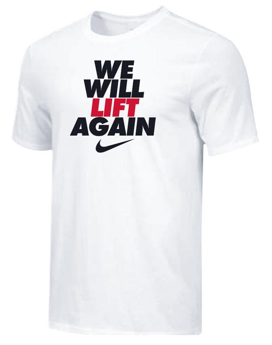 Nike Youth We Will Lift Again Tee - White/Black