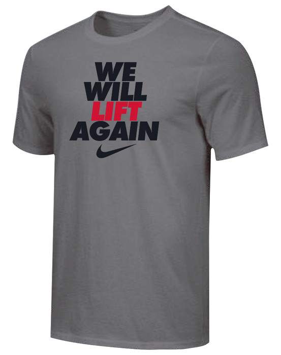 Nike Youth We Will Lift Again Tee - Dark Grey/Black