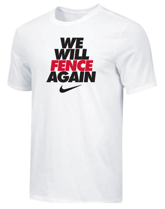 Nike Youth We Will Fence Again Tee - White/Black