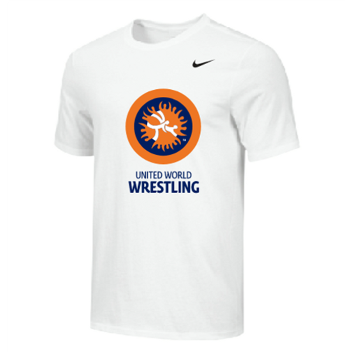 Nike Men's UWW Circle Logo Tee - White/Orange/Blue