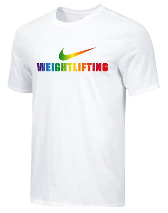 Nike Men's Weightlifting Pride Tee - White