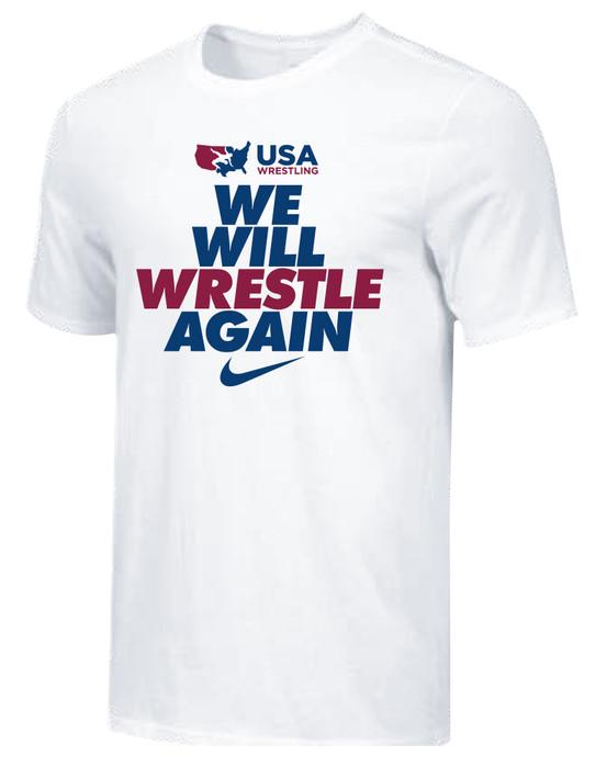 Nike Men's USAWR We Will Wrestle Again Tee - White/Black